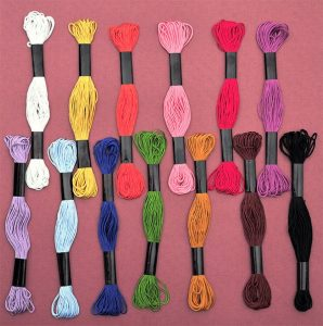 japanese silk for kumihimo - 13 coloures from producer Hamanaka
