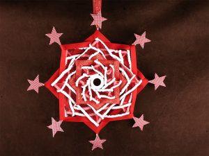 weihnachtliches Variojo in rot und weiß