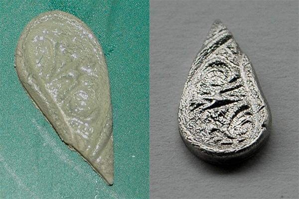 Metal Clay zu nass verarbeitet - die Strukturen leiden und verwischen